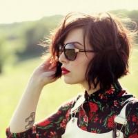 Vintage Messy Short Hair