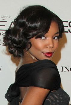 Vintage Styled Curly Hairstyle for Black Women