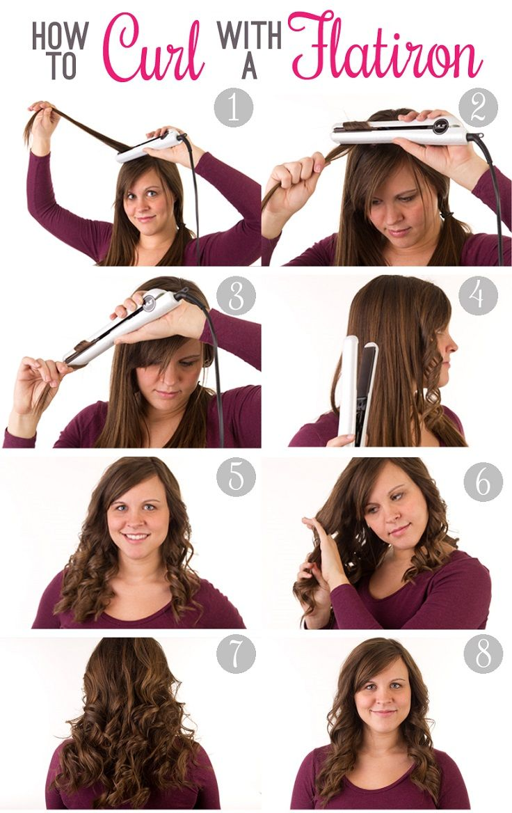 Style a Curly Hair with Your Flat Iron - Pretty Designs