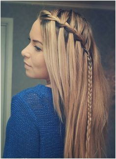 Waterfall Braided Straight Hairstyle
