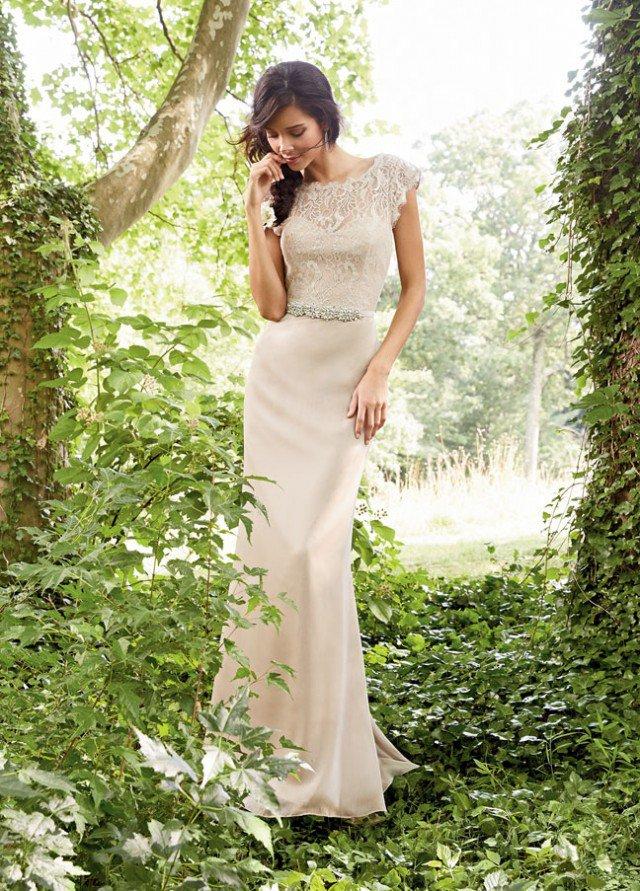 White Lace and Chiffon Dress for Women