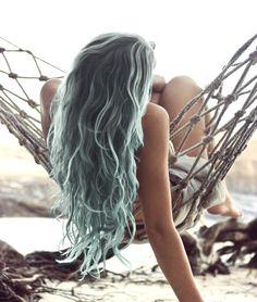 Wild-chic Blue Hairstyle