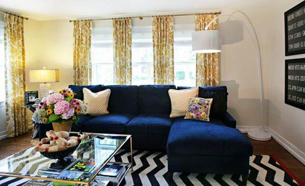 Yellow Pattern Curtain