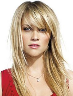 layered Long Blond Hairstyle for Heart Shaped Faces