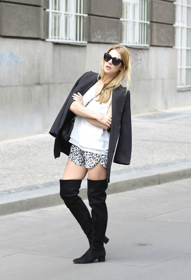 2015 Trendy Outfit Idea with Over-Knee Boots