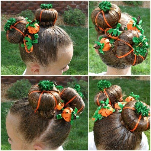 Adorable Halloween Bun Hairstyle