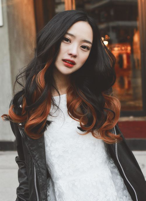 Amazing Colored Long Wavy Hair for Asian Hairstyles