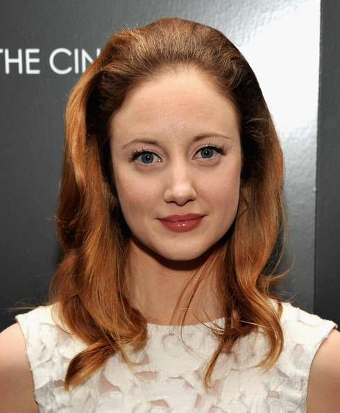 Andrea Riseborough Teased Hair