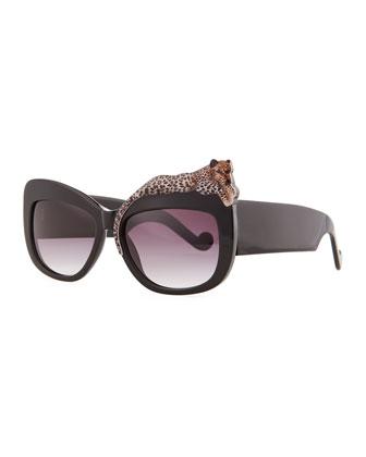 Anna-Karin Karlsson Rose et la Mer Leopard Sunglasses