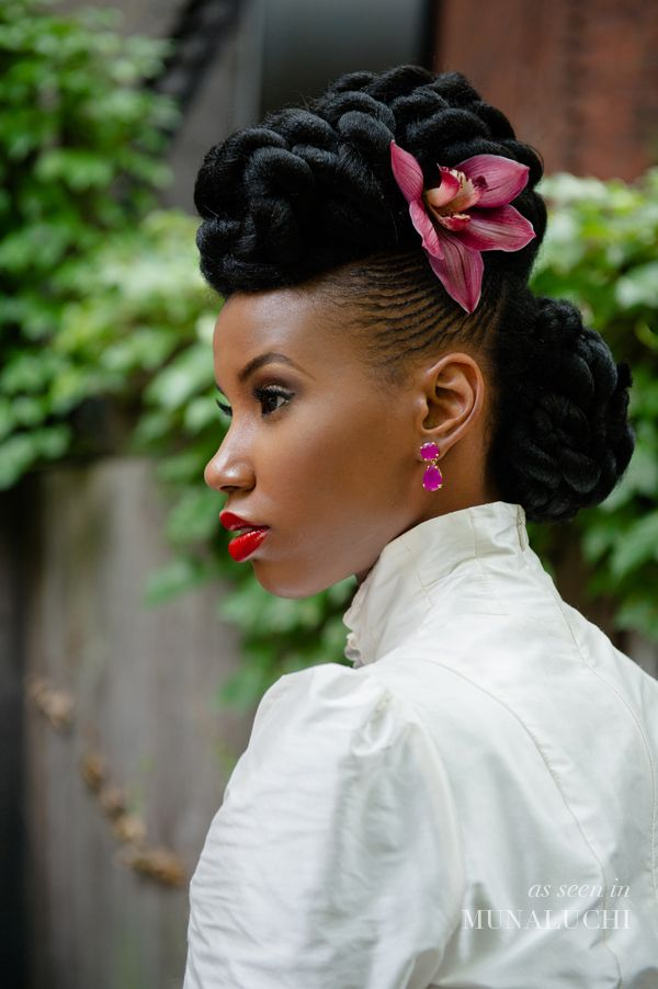 Artistic Black Updo Hairstyle