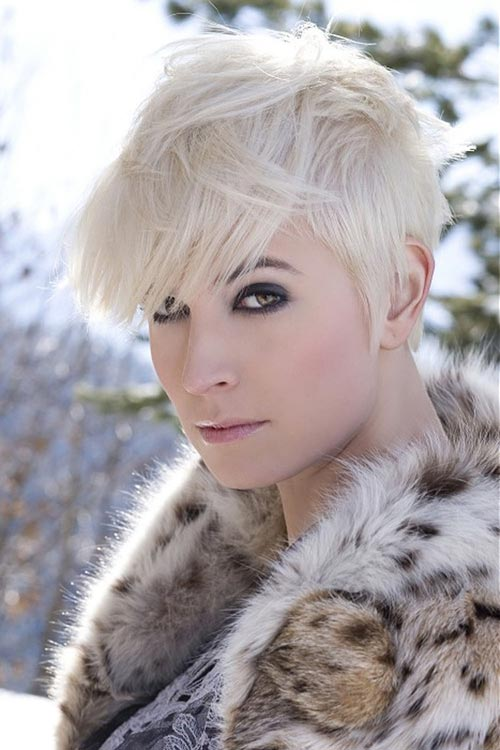 Ash Blonde Pixie Haircut