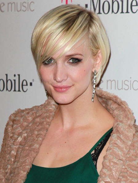 Ashlee Simpson Pretty Haircut with Bangs