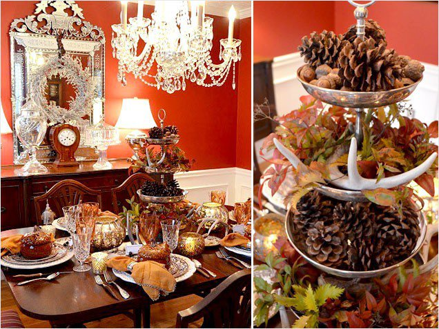 How to thanksgiving table decorating pretty designs Modern fall table decorations