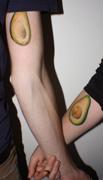 Avocado Couple Tattoo