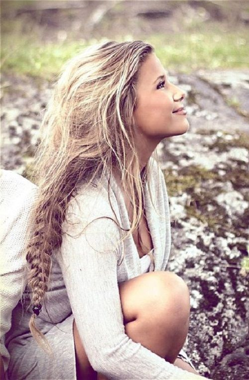 Beautiful Bohemian Hairstyle