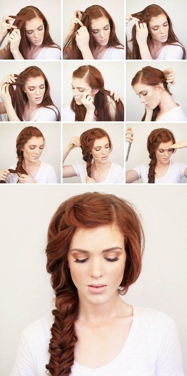 Beautiful Hairstyles Design : Fishtail braid tutorial for long hair hairstyles