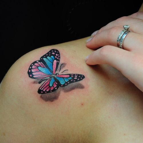 15 latest 3d butterfly tattoo designs you may love for Cute butterfly tattoos