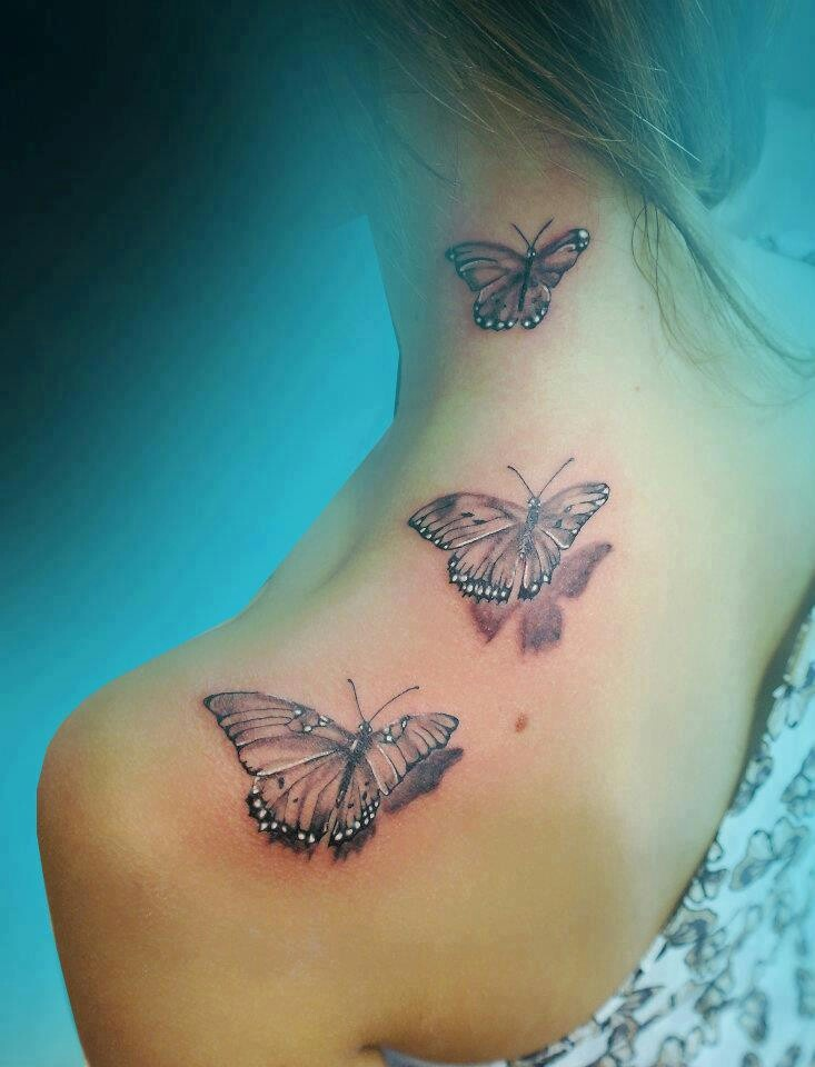 15 gorgeous shoulder butterfly tattoo desgns pretty designs for Cute butterfly tattoos