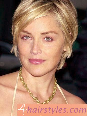 12 Impressive Sharon Stone Short Hairstyles | Pretty Designs