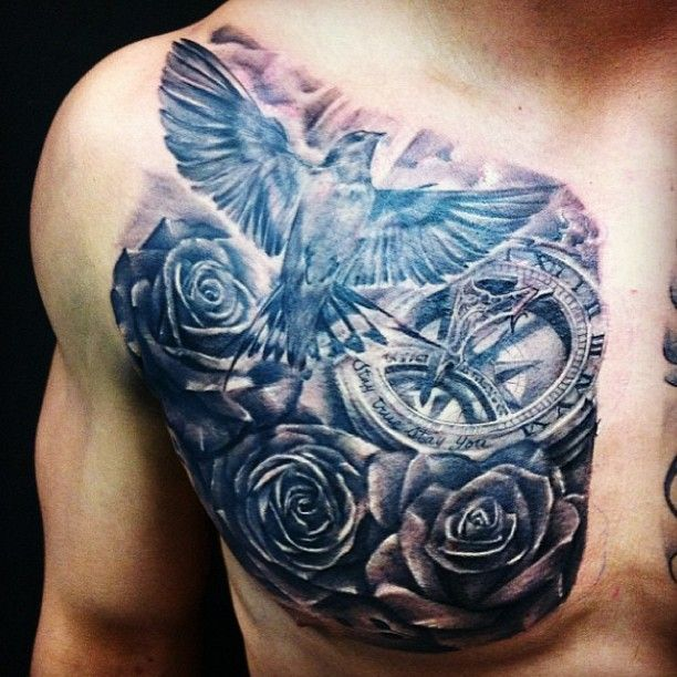 tattoo designs gallery chest tattoos for men pretty designs. Black Bedroom Furniture Sets. Home Design Ideas