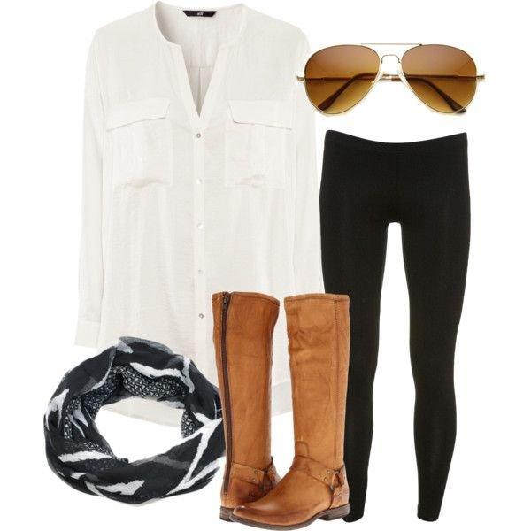 Black Leggings Outfit Idea
