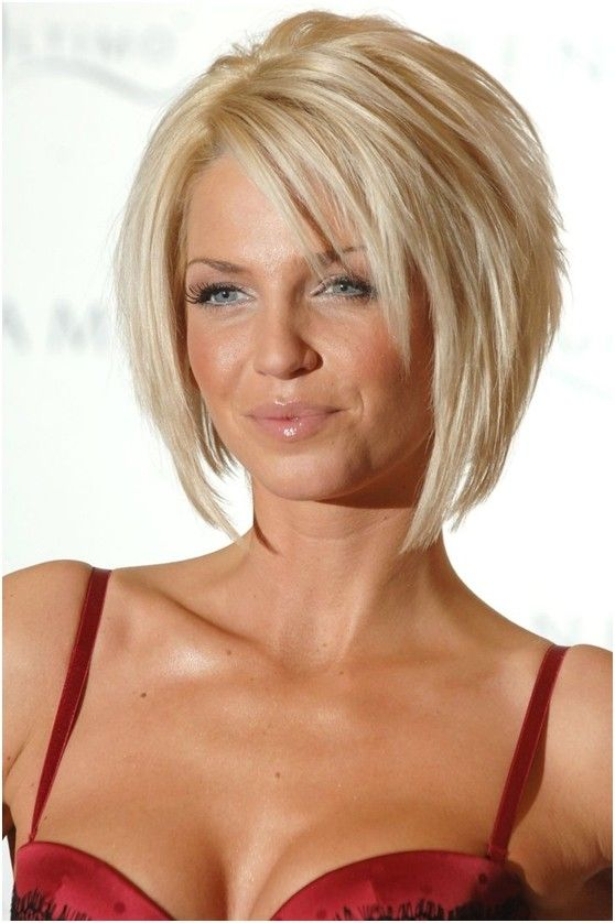 Elegant Short Layered Bob Haircut For Blond Hair
