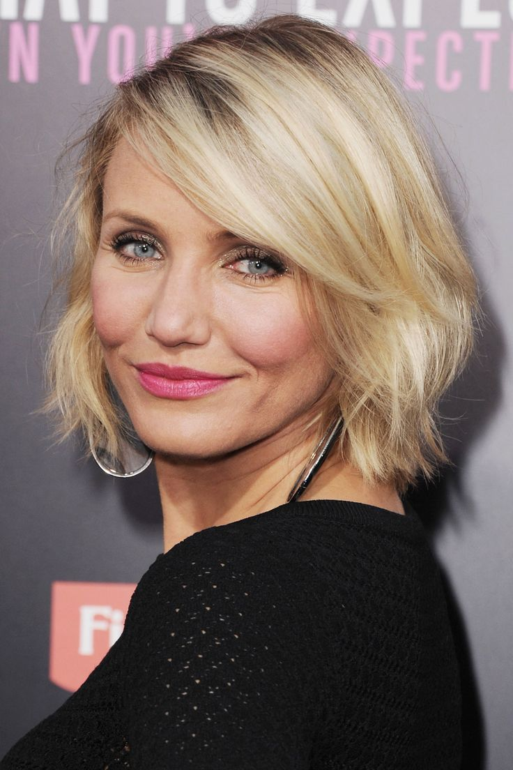 Blond Wavy Bob Haircut – Cameron Diaz Hairstyles/Pinterest