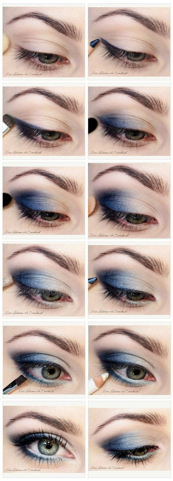 Smokey eye makeup tutorial for blue eyes cat eye makeup blue smoky eye makeup tutorial black smokey baditri Gallery