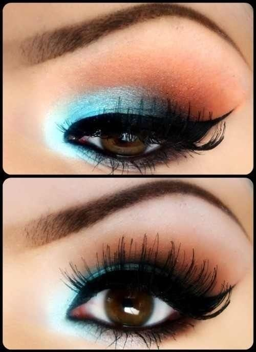 Blue and Black Eye Shadow