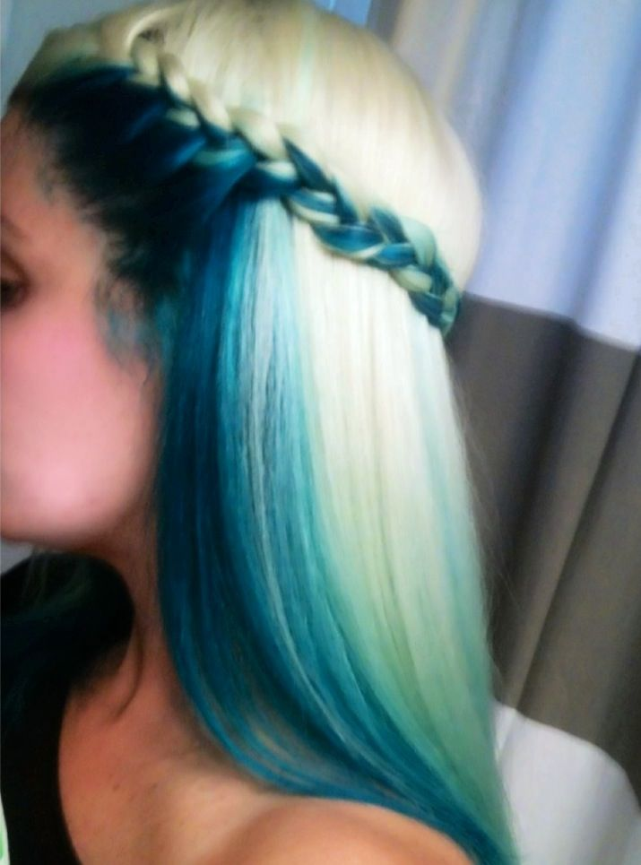 Blue and Blond Colored Hairstyle