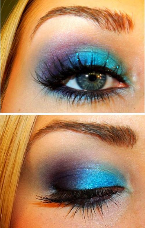 Blue and Purple Eye Shadow