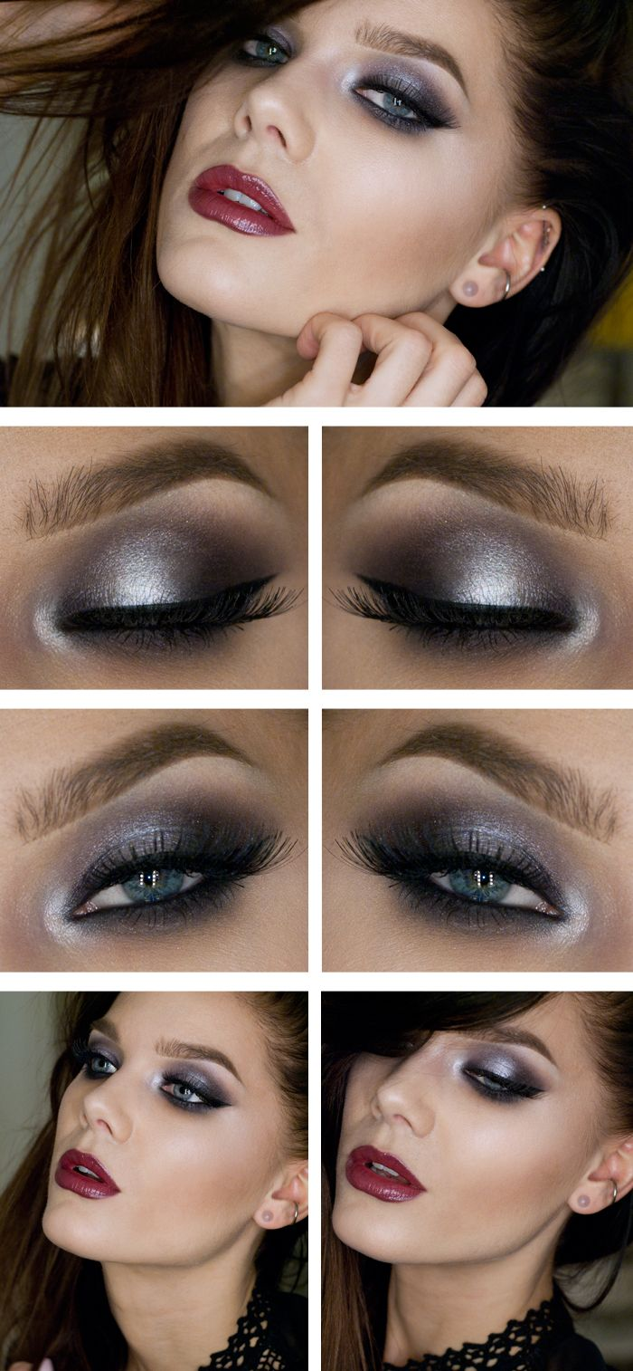 Blue and White Glossy Eye Shadow