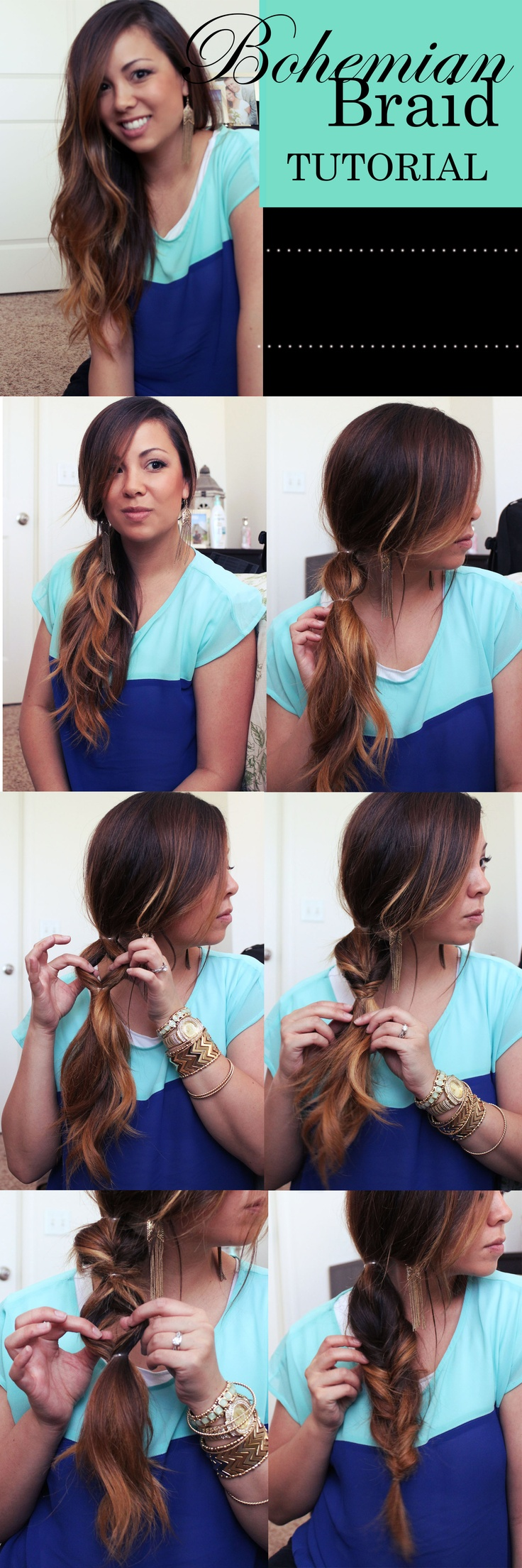 Bohemian Braid Hairstyle Tutorial