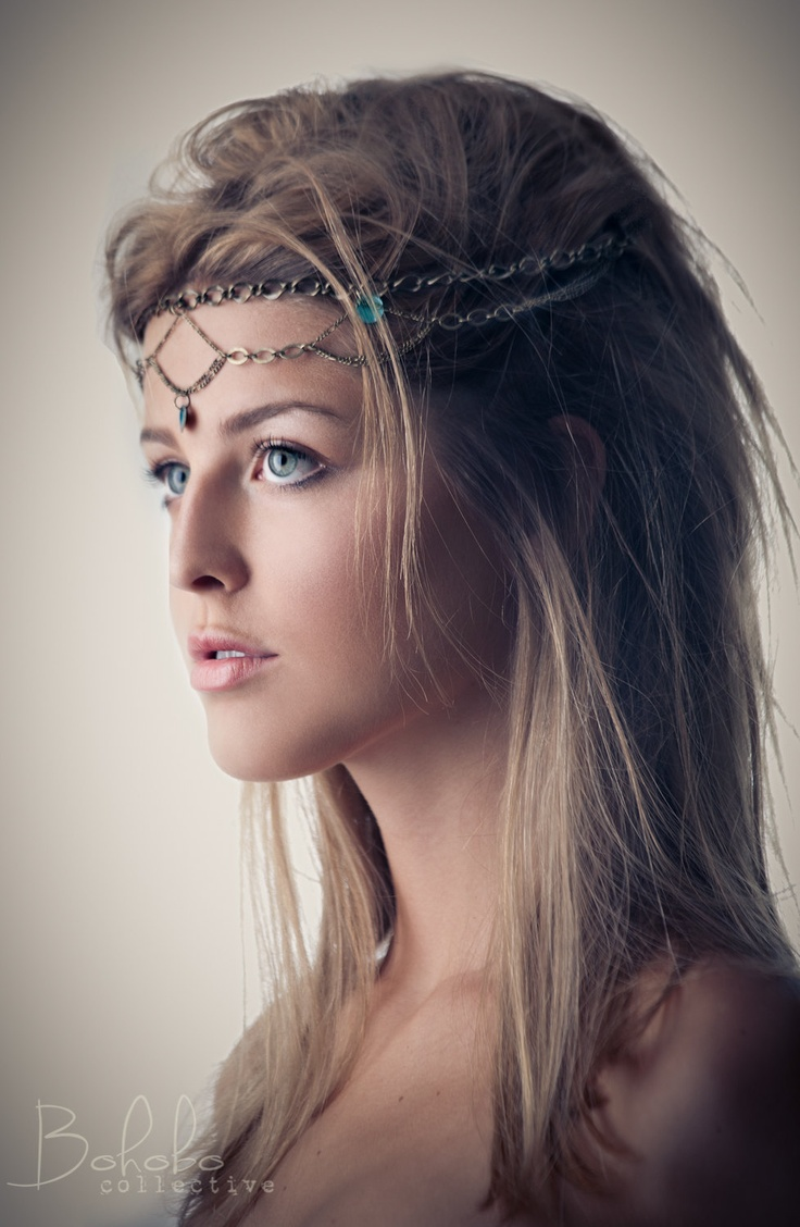 Bohemian Hairstyle With Head Chain
