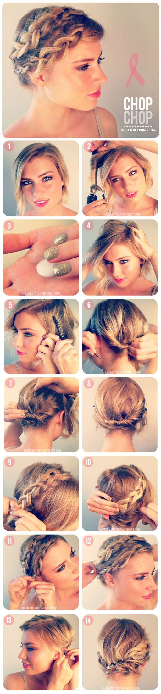 Magnificent 12 Pretty Braided Hairstyles For Short Hair Pretty Designs Hairstyles For Men Maxibearus