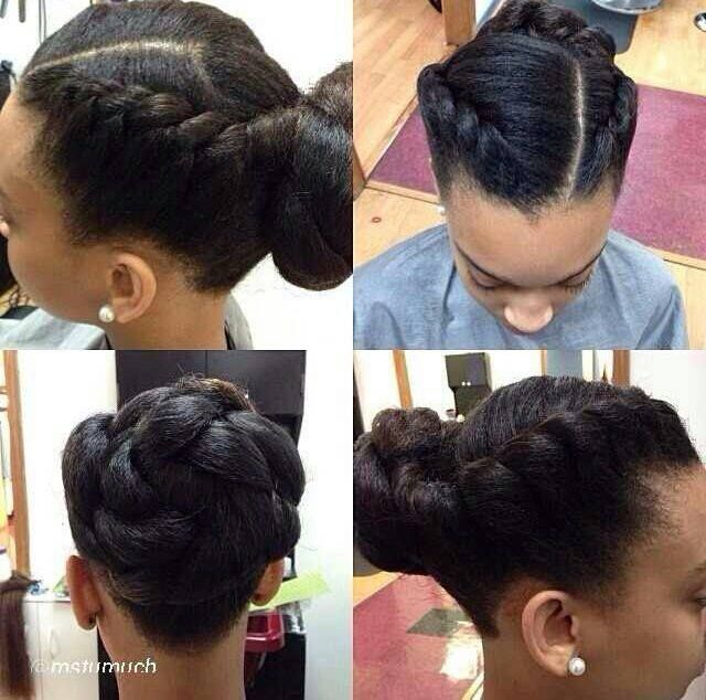 Braided Black Updo Hairstyle
