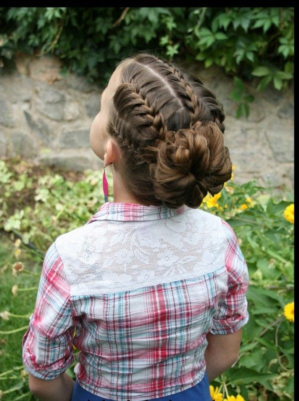 Braided Bun Hairstyle for Kids