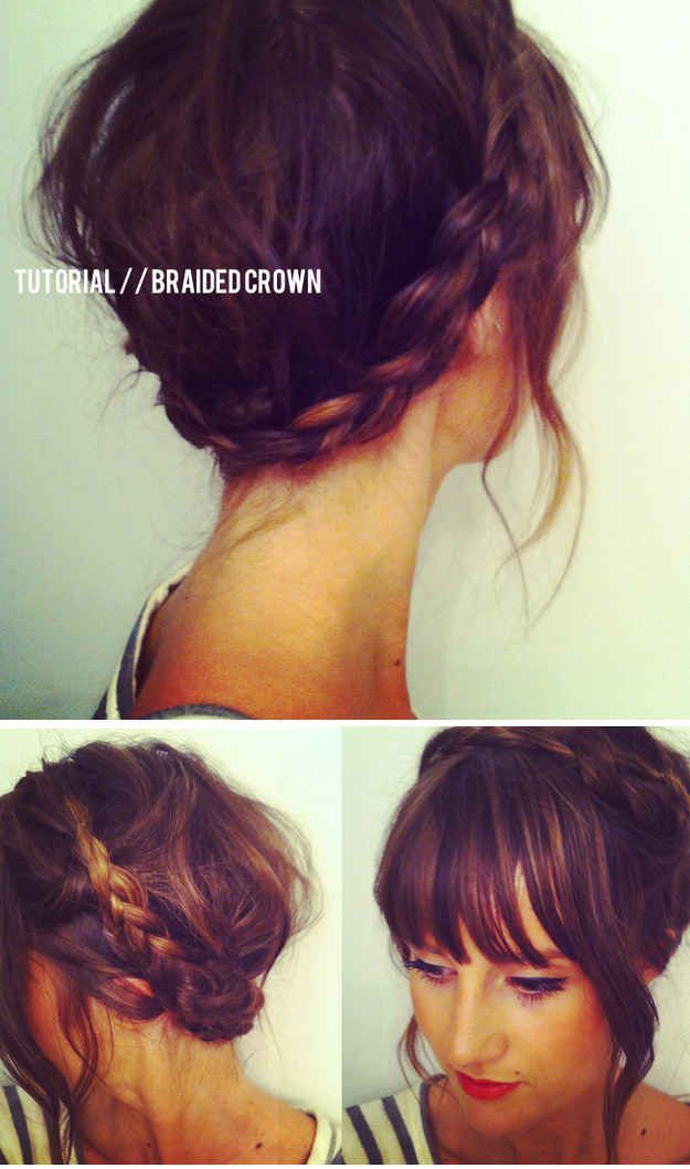 Astounding 12 Pretty Braided Hairstyles For Short Hair Pretty Designs Hairstyle Inspiration Daily Dogsangcom