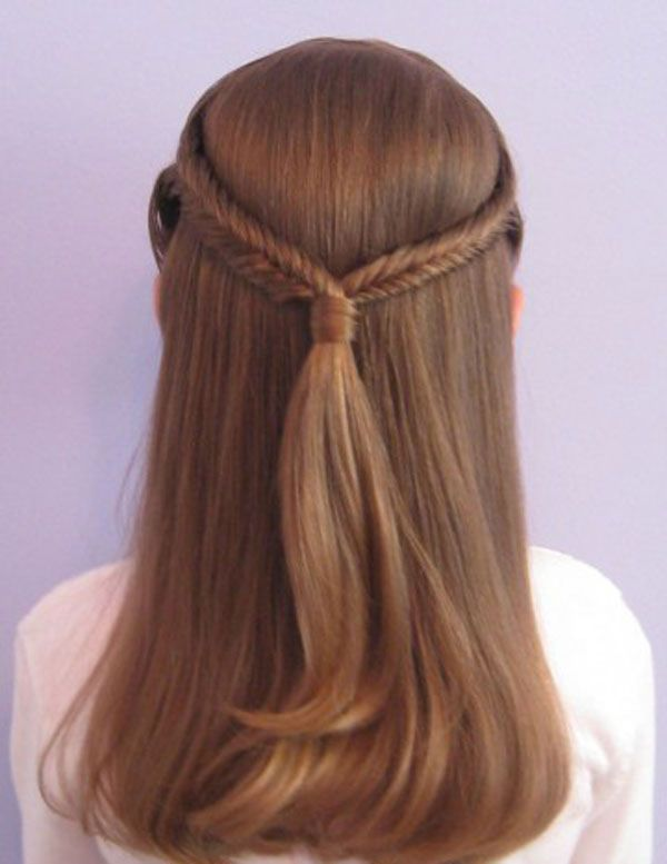 Braided Half Up Hairstyle for Kids