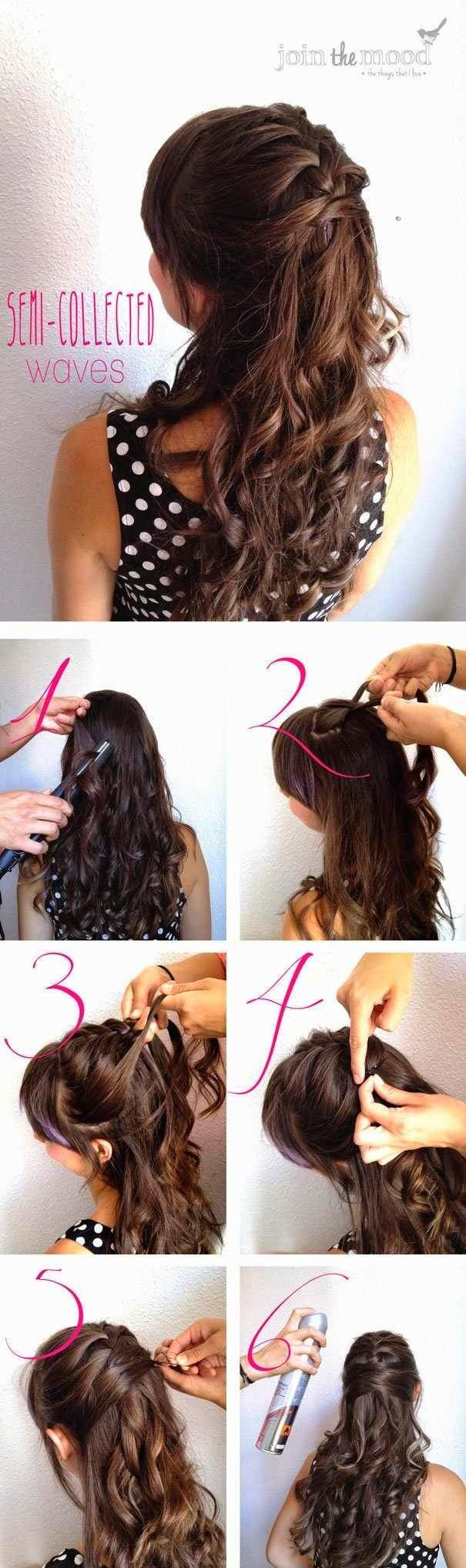 Braided Half Updo Hairstyle Tutorial