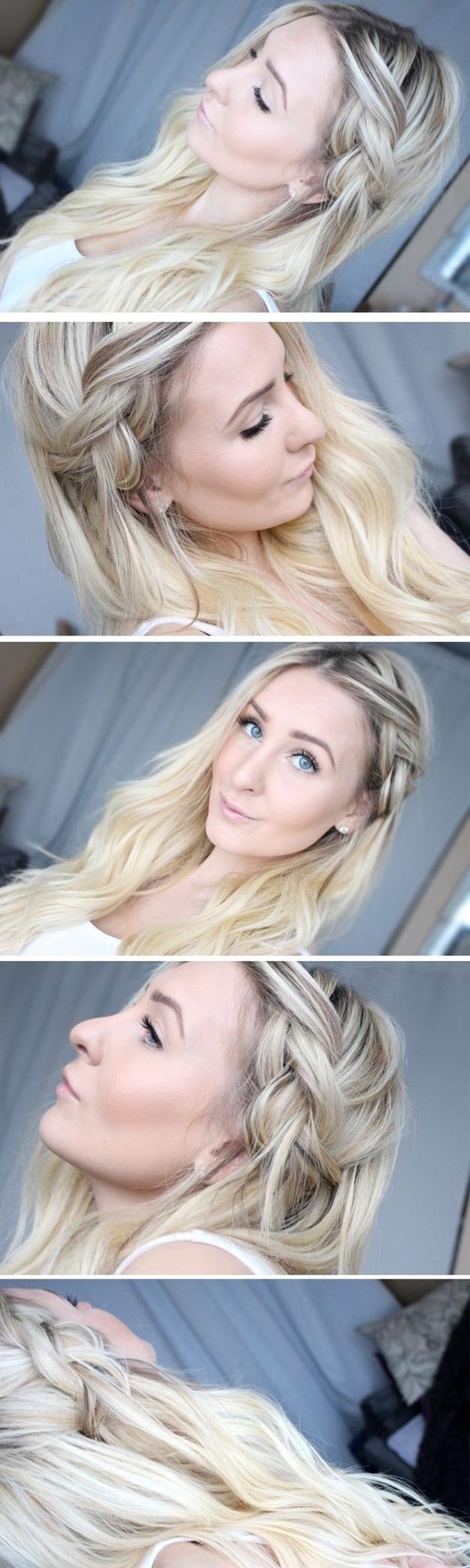 Braided Half Updo Hairstyle