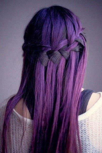 Braided Long Straight Hairstyle