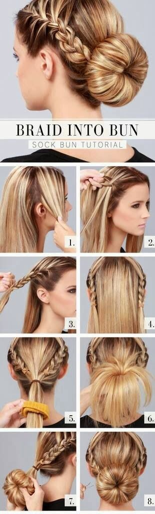 Braided Low Bun Hairstyle Tutorial