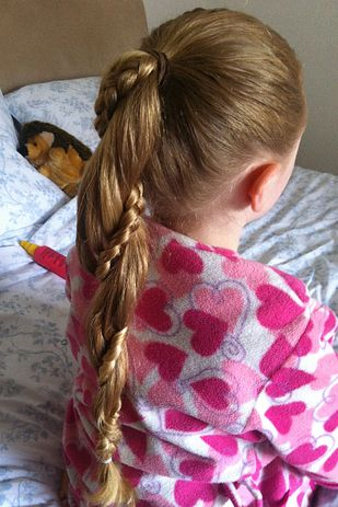 Braided Ponytail Hairstyle for Little Girls