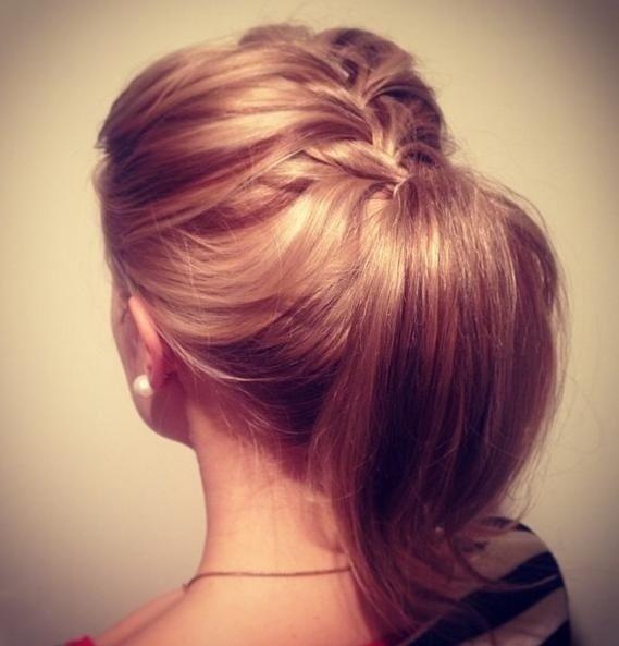Braided Ponytail Hairstyle for Medium Hair