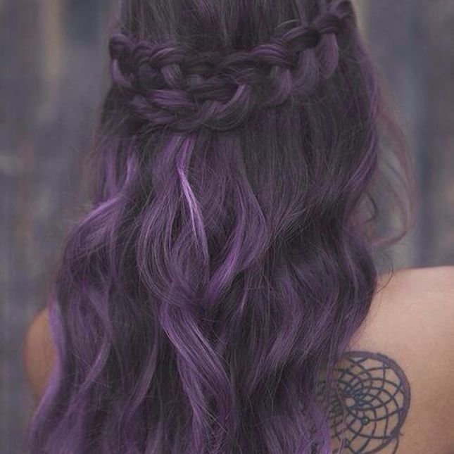 Braided Purple Hairstyle