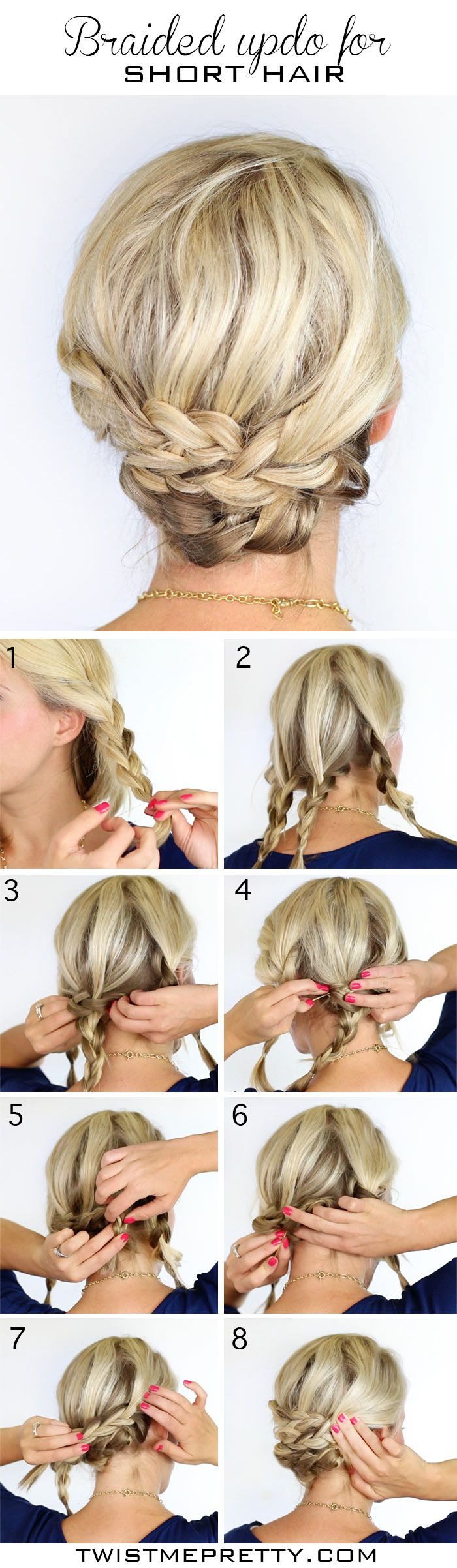 Astounding 12 Pretty Braided Hairstyles For Short Hair Pretty Designs Short Hairstyles Gunalazisus