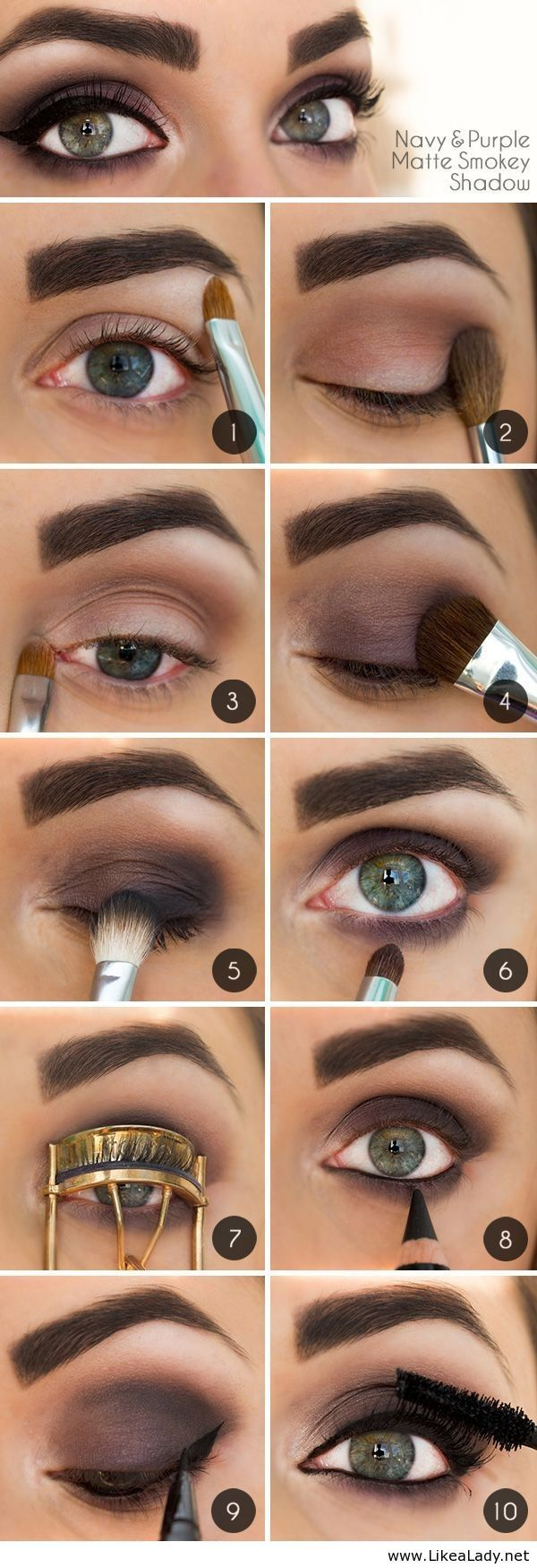 11perfect smoky eye makeup tutorials for different occasions brown smoky eye makeup tutorial with full brows baditri Image collections