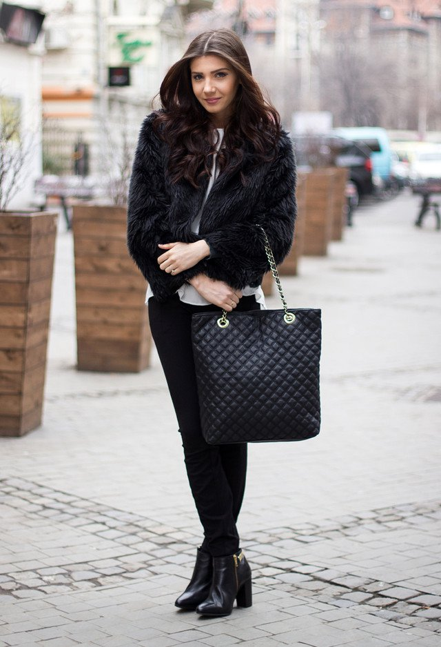 15 Super-chic Fall & Winter Outfit Ideas with Fur Coats ...