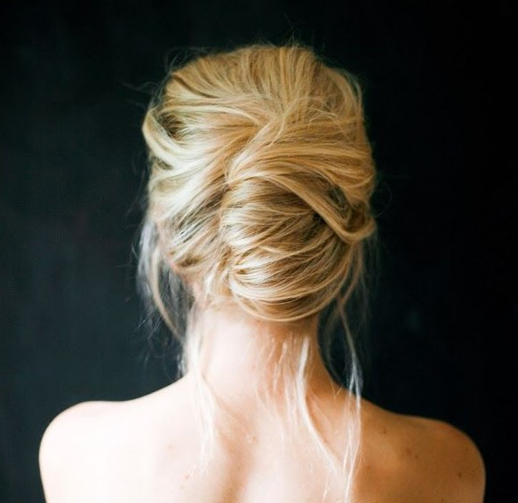 Casual Messy Updo for Wedding